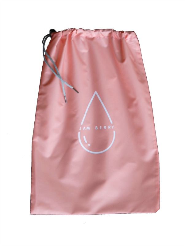 Jam Berry 100% Waterproof drawstring Wet Stuff Bag Peachy Pink