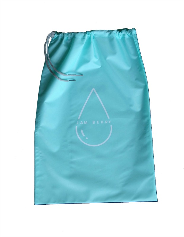 Jam Berry 100% Waterproof drawstring Wet Stuff Bag Sky Blue