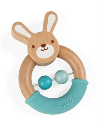 Janod Baby Pop Bunny Rattle