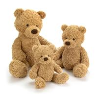 Jellycat Bumbly Bear comparison - 30cm,42cm,57cm
