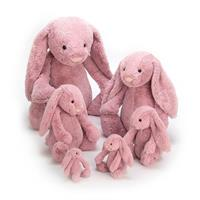 Jellycat Bashful Tulip Bunny Comparison - tiny,small,medium,large,huge,really big.