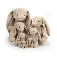Jellycat Bashful Beige Bunny Comparison - tiny, small, medium, large, huge, really big, really really big