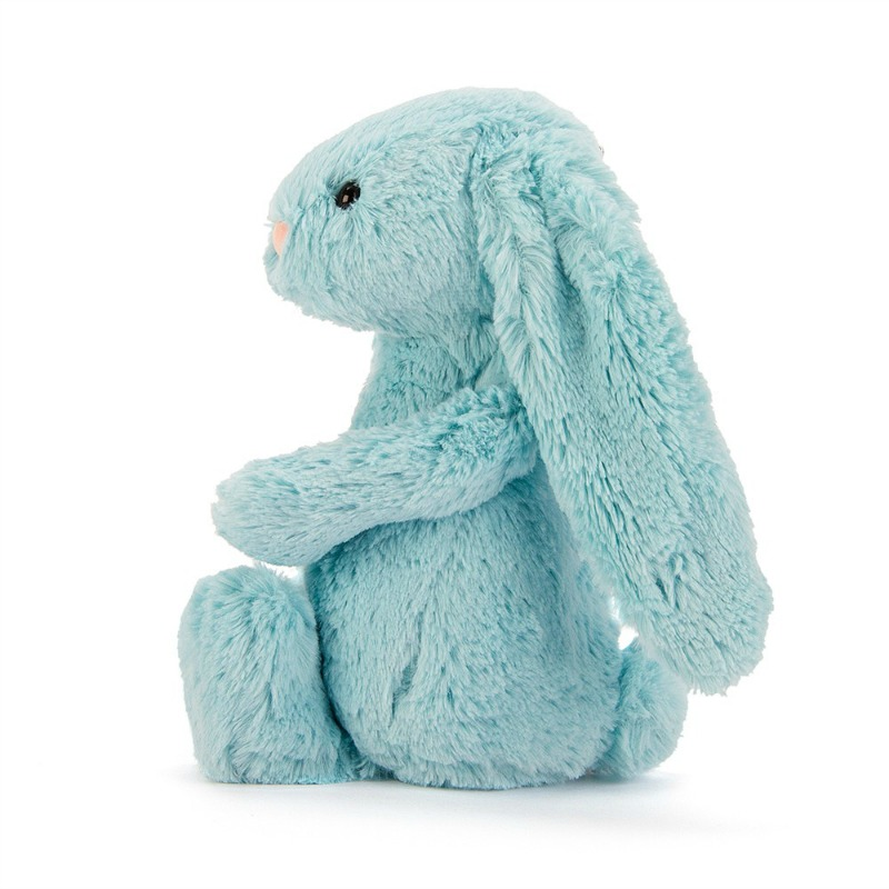 Jellycat Medium Bashful Aqua Bunny