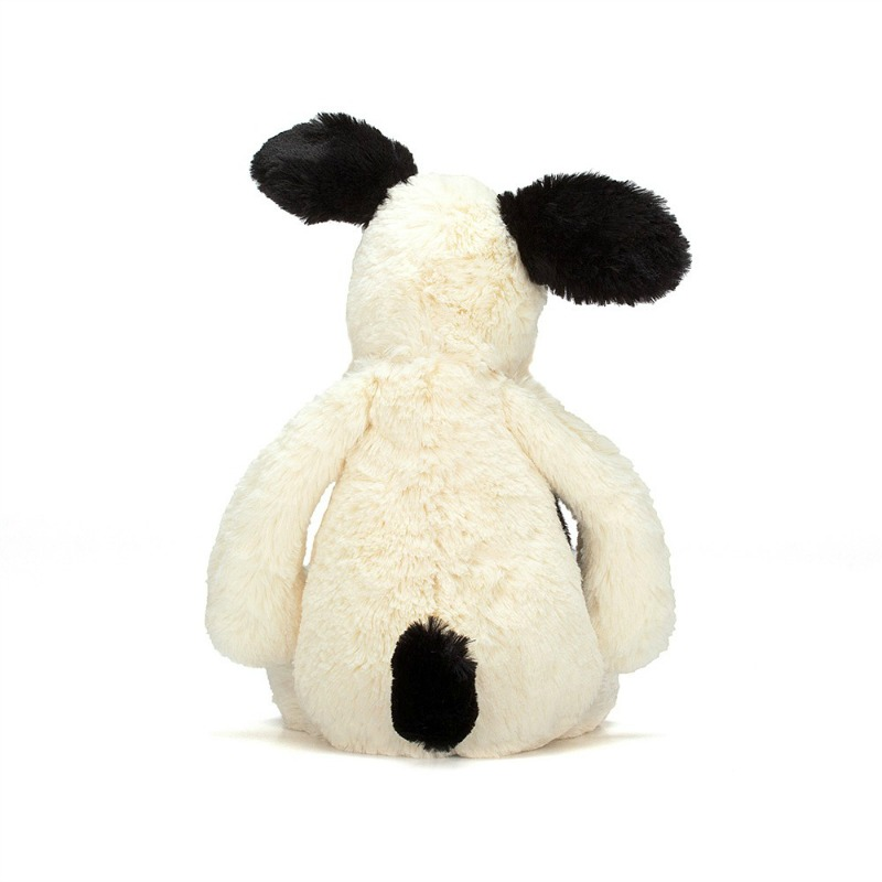 Jellycat Medium Bashful Black Cream Puppy