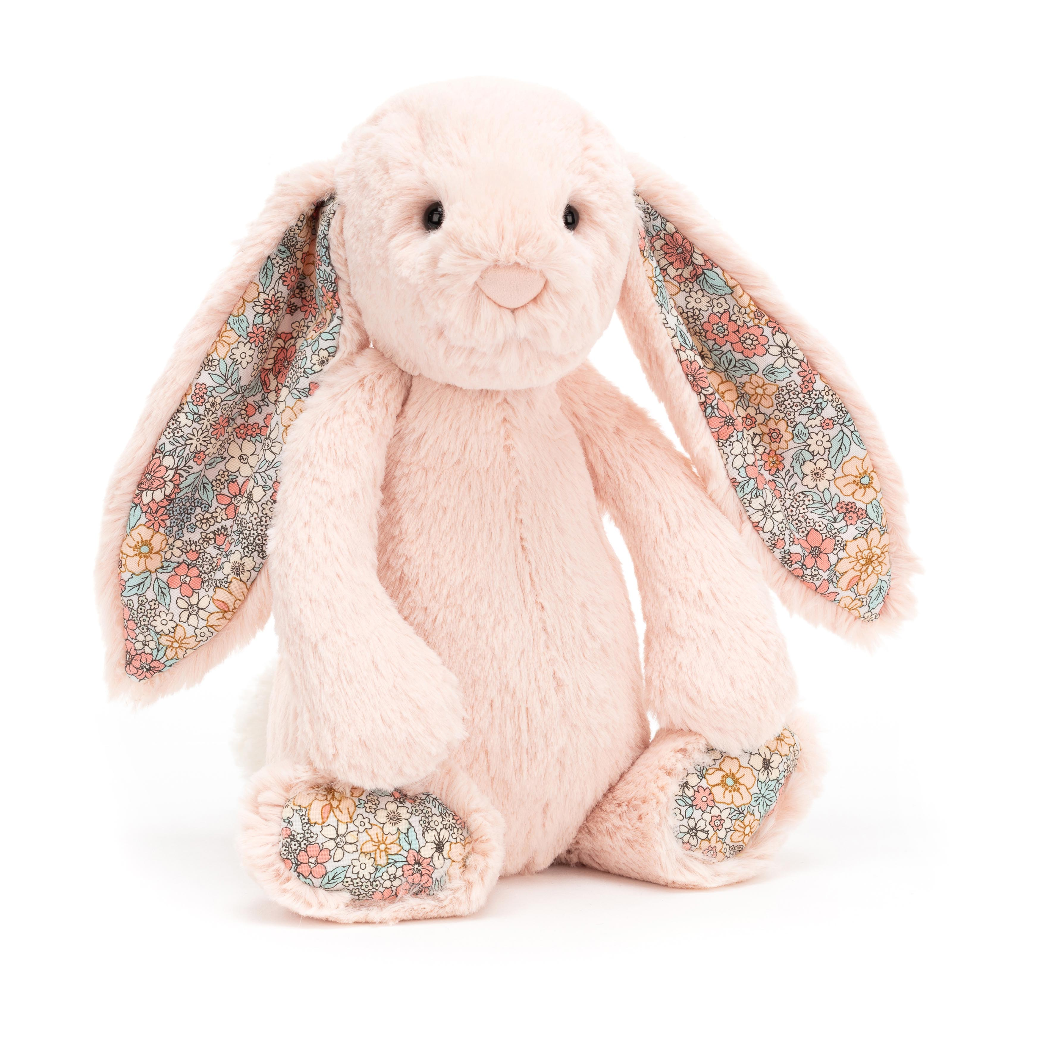 Jellycat Medium Bashful Blossom Blush Bunny