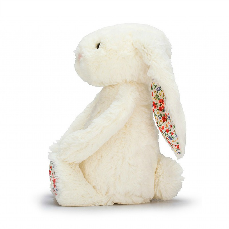 Jellycat Medium Bashful Blossom Cream Bunny
