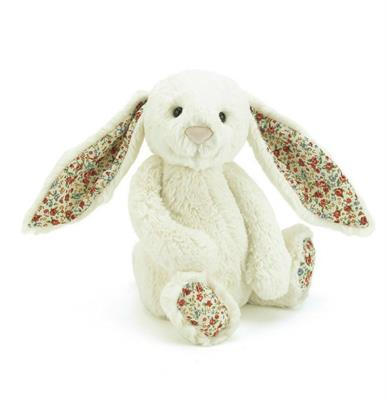 Jellycat Medium Bashful Cream Blossom Bunny