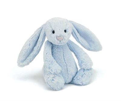 Jellycat Medium Bashful Blue Bunny