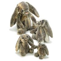 Jellycat Bashful Cottontail Bunny Comparison - small,medium,large,huge