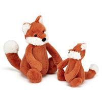 Jellycat Bashful Fox Cub Comparison - small and medium