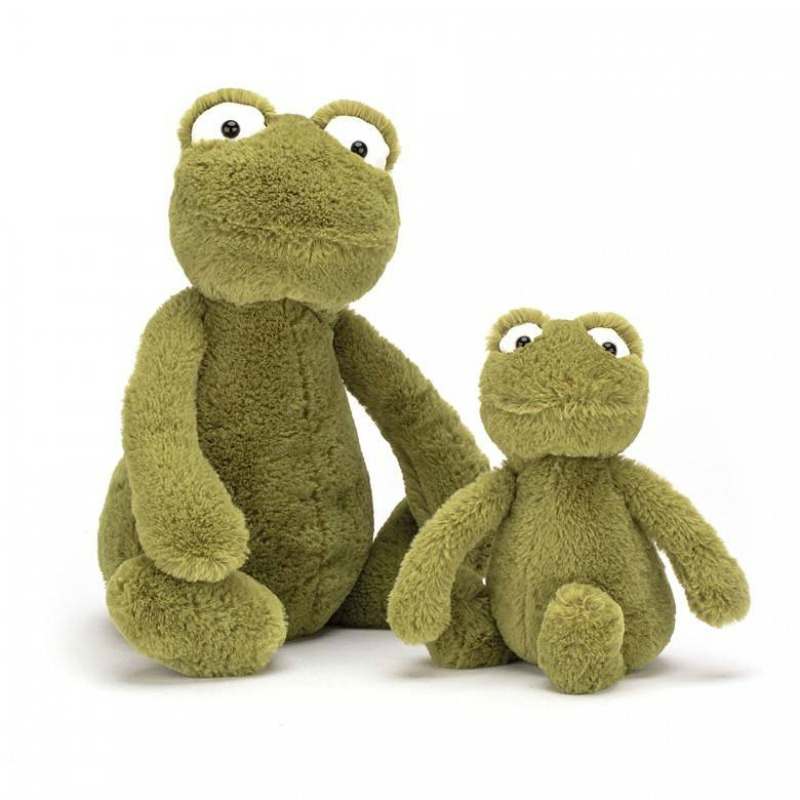 Jellycat Bashful Frog Comparison - small and medium