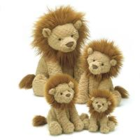 Jellycat Fuddlewuddle Lion Comparison - small,medium,large,huge
