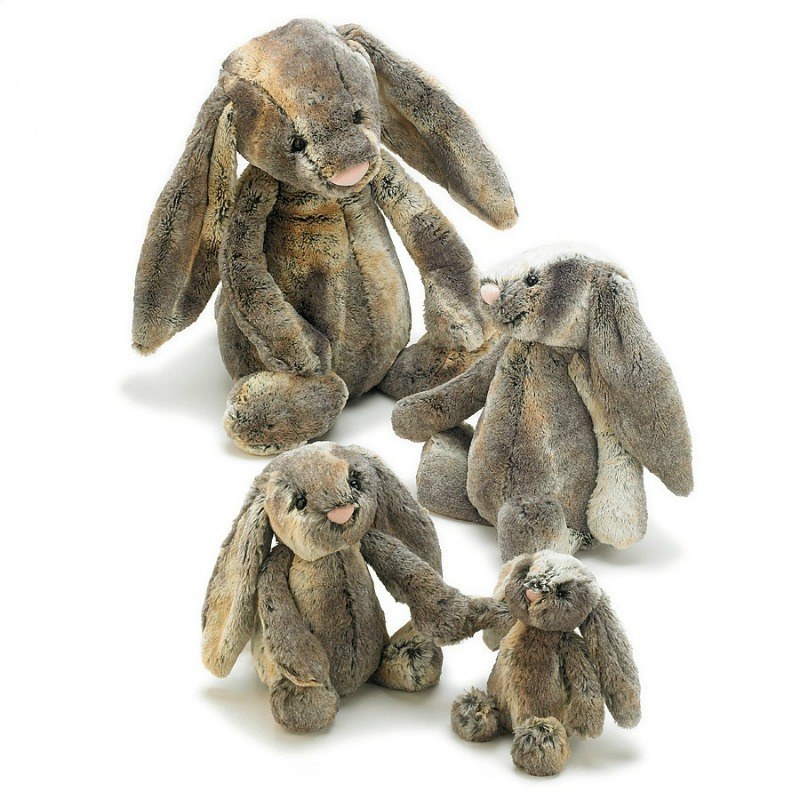 Jellycat Bashful Cottontail Bunny Comparison - small, medium,large,huge
