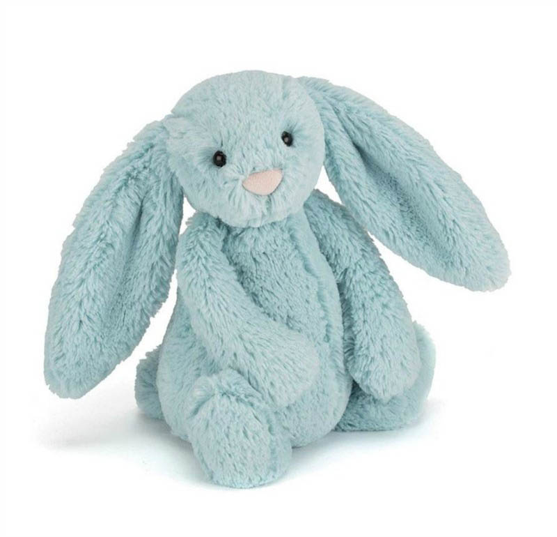 Jellycat Soft Toys - Bashful Aqua Bunny - Medium