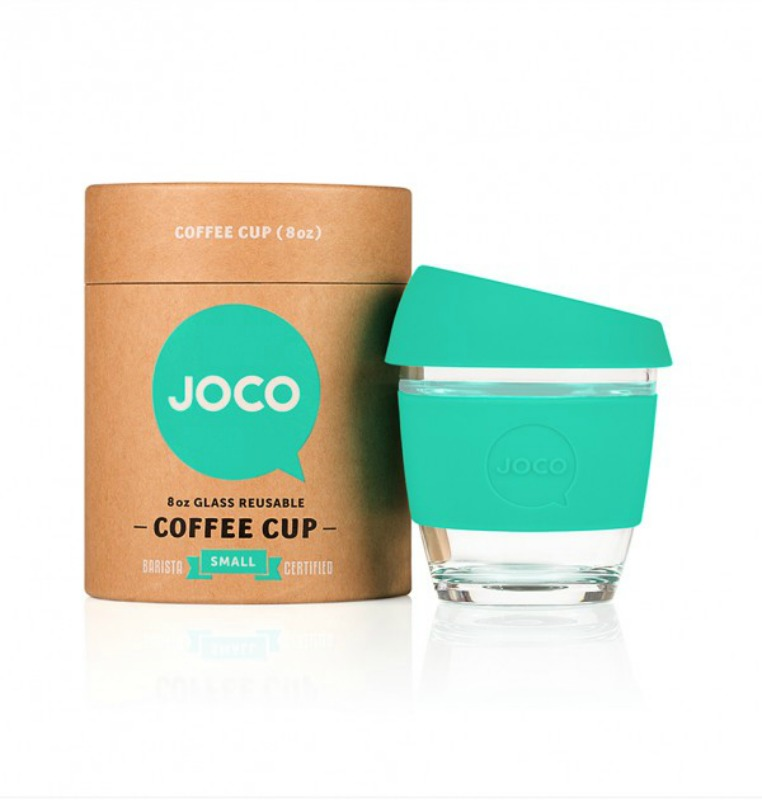JOCO Reusable Glass Cup 236ml (packaging may vary)