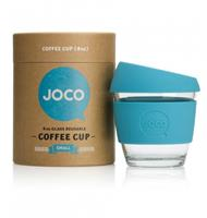 JOCO Reusable Glass Cup Blue 236ml  (packaging may vary)
