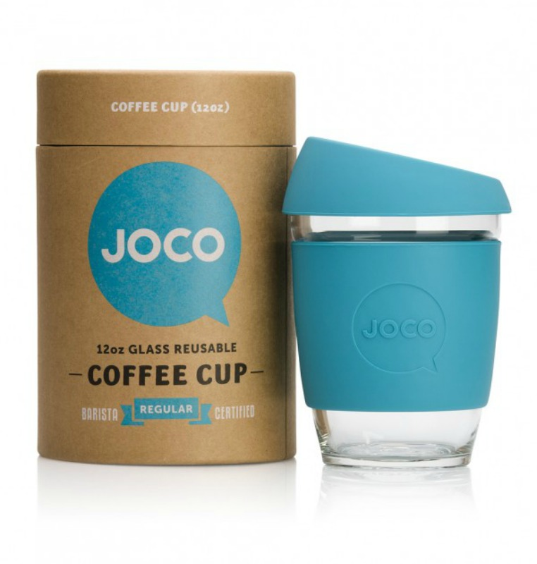 JOCO Reusable Glass Cup Blue 354ml (packaging may vary)