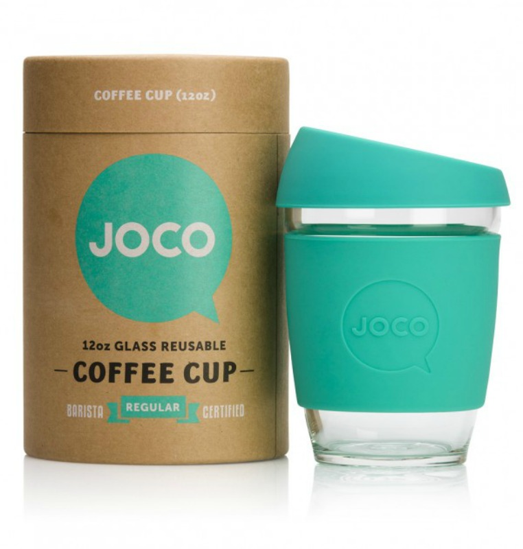 JOCO Reusable Glass Cup Mint 354ml (packaging may vary)