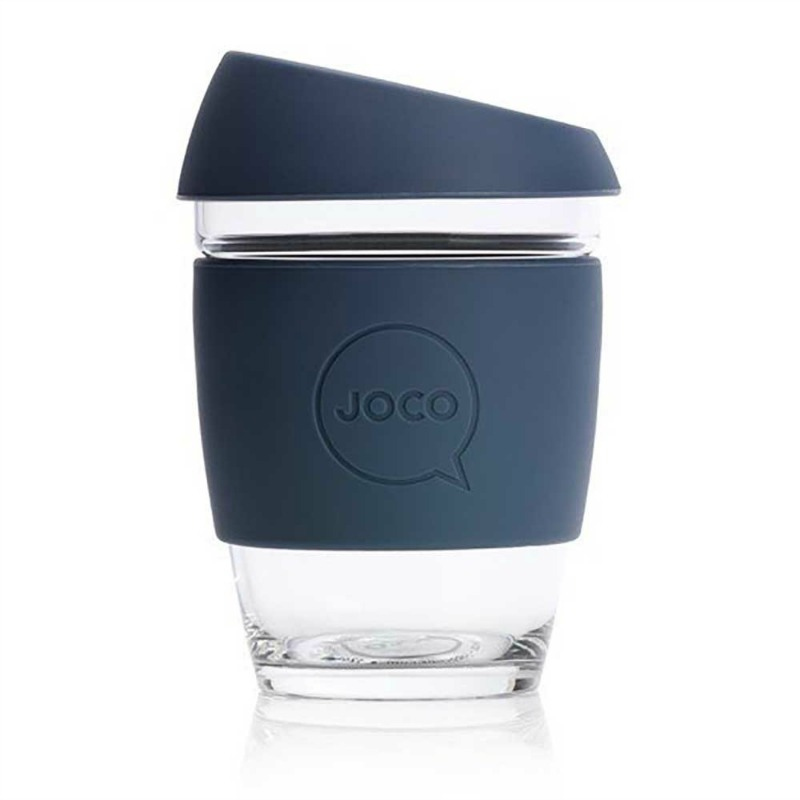 JOCO Reusable Glass Cup Folkstone Grey 354ml