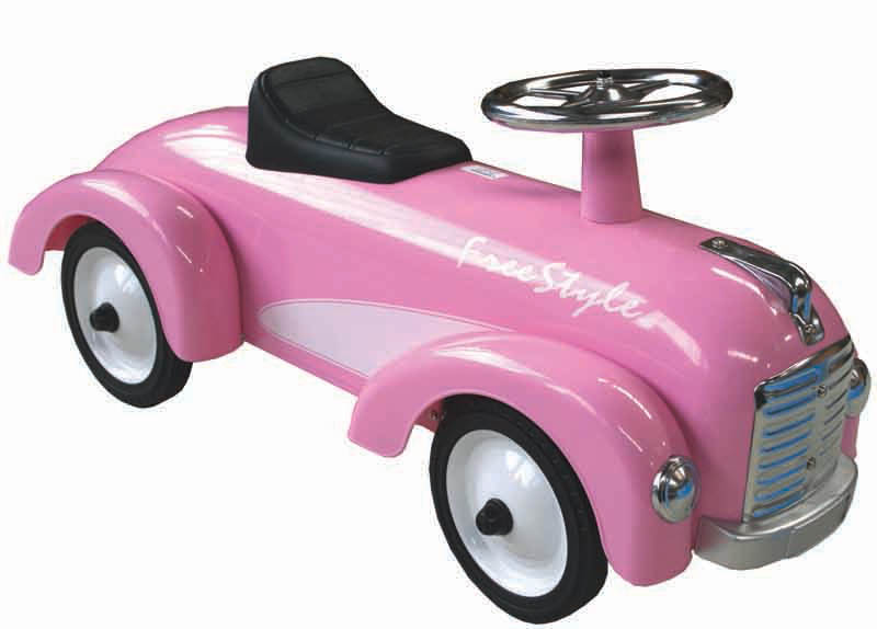 Johnco-Ride On Toys-Pink Metal Speedster Car