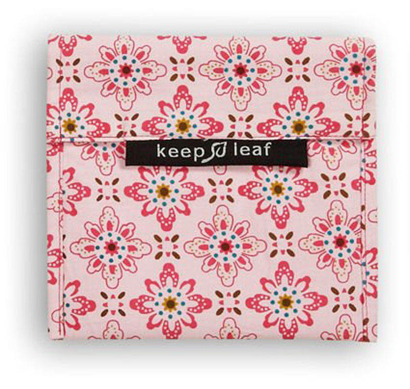 Keep Leaf-Reusable Sandwich Bags-Large Baggie {Floral}