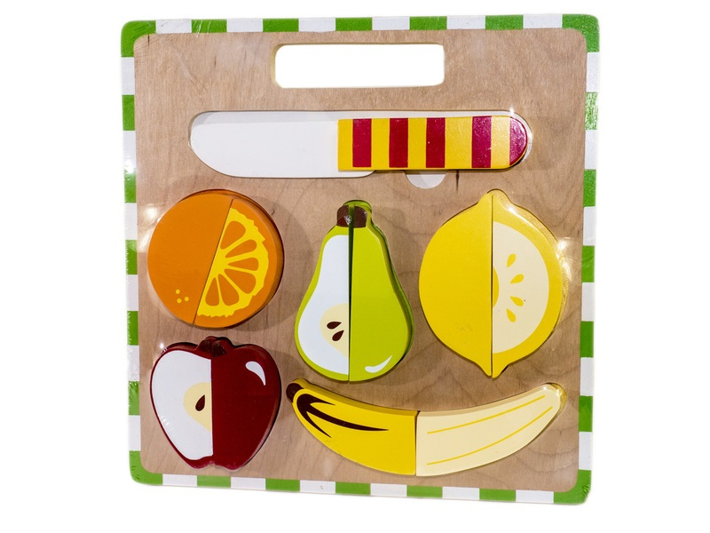 Kiddie Connect Fruit Slicing Cutting Board Puzzle