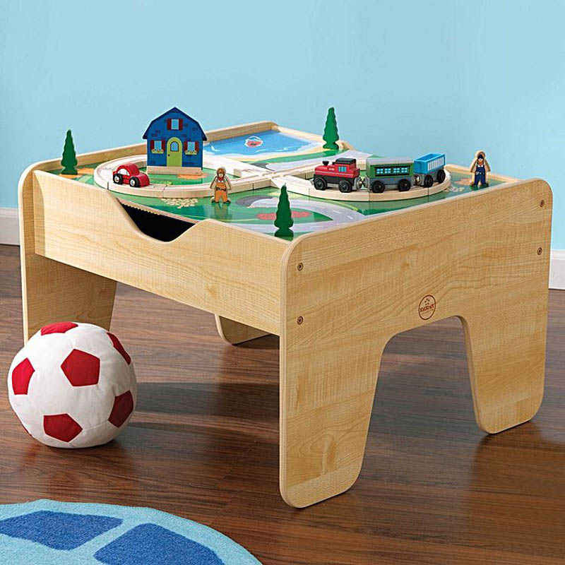 Kidkraft 2 in 1 Activity Table,Blocks and Train Set