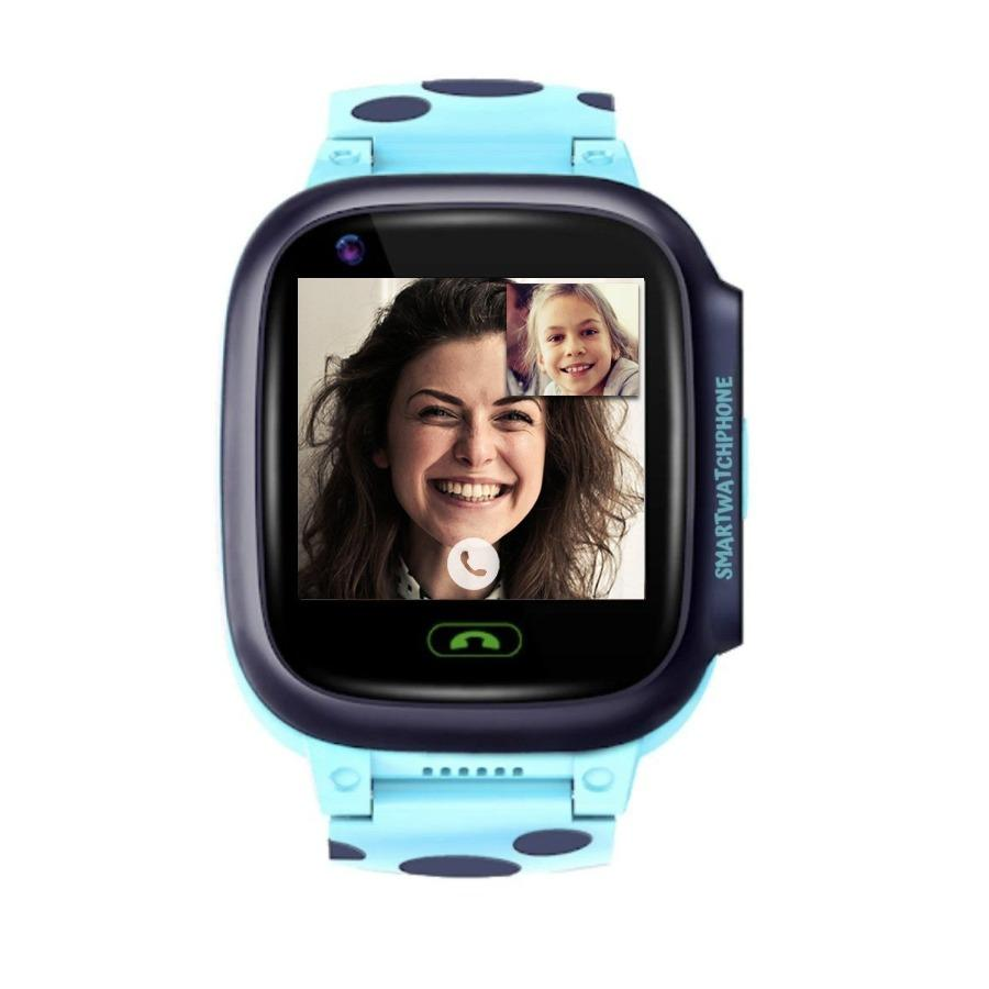 Kidocall - 4G Smartwatch, Phone & GPS tracking for Kids - Blue