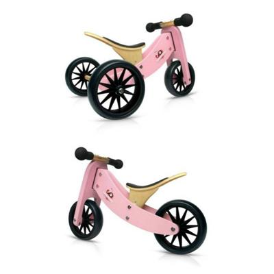 Kinderfeets Tiny Tot 2 in 1 Balance Bike Pink