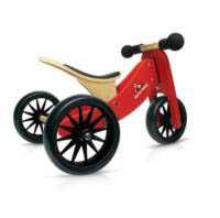 Kinderfeets Tiny Tot 2 in 1 Balance Bike - Red