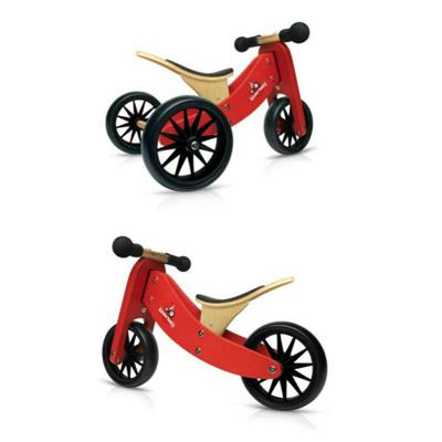 Kinderfeets Tiny Tot 2 in 1 Balance Bike Red