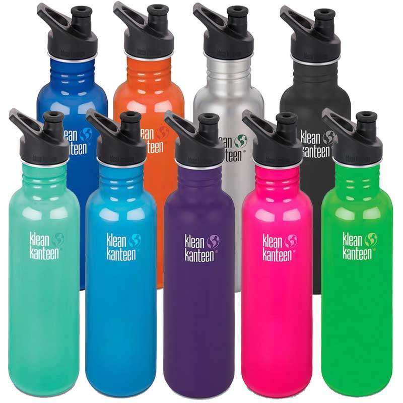 Klean Kanteen Classic Sport Cap Drink Bottle 27oz/800ml