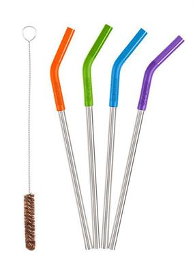 Klean Kanteen Stainless Steel Straws 4 pk Multicoloured