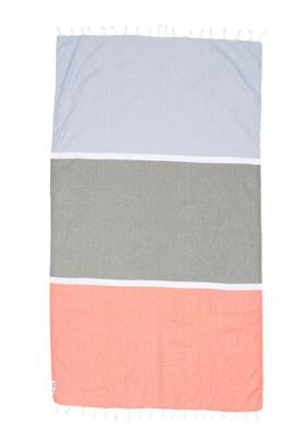 Knotty Colourblock Turkish Towel - Byron Bay