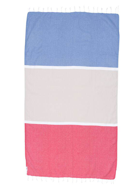 Knotty Colourblock Turkish Towel - Manly