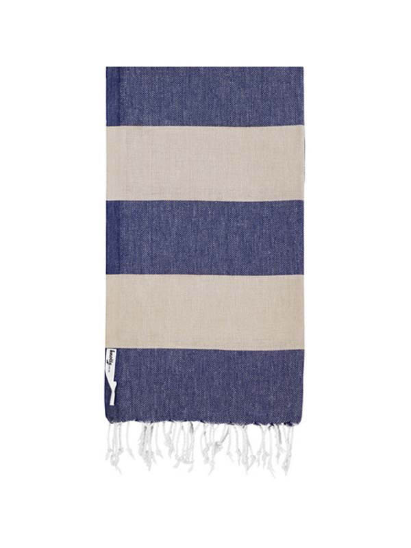 Knotty Turkish Towel - ADMIRAL (Beige / Navy)