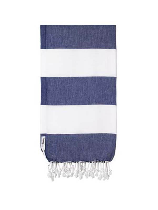 Knotty Turkish Towel - Capri Navy