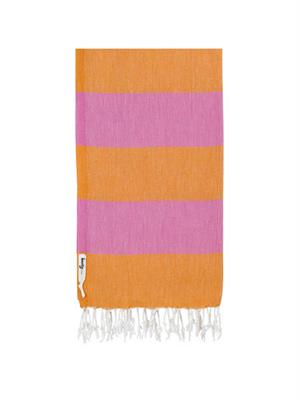 Knotty Turkish Towel - Carnival (Orange / Pink)