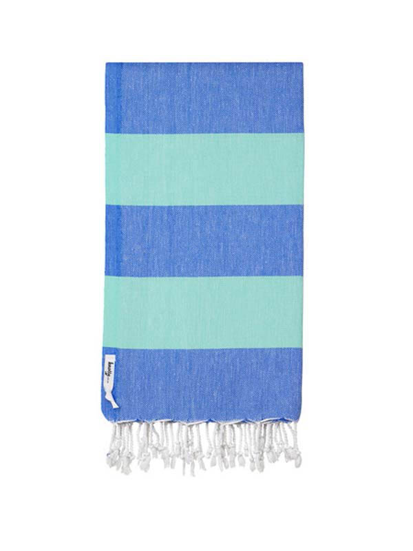 Knotty Turkish Towel - OCEAN (Blue / Blue)