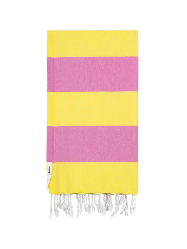 Knotty Turkish Towel - SUMMER (Pink / Yellow)