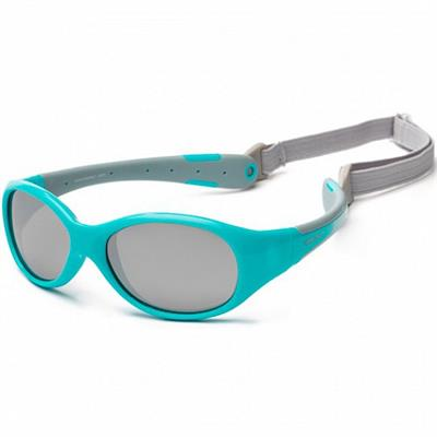 Koolsun Flex Kids Sunglasses Aqua Grey 3 to 6 years