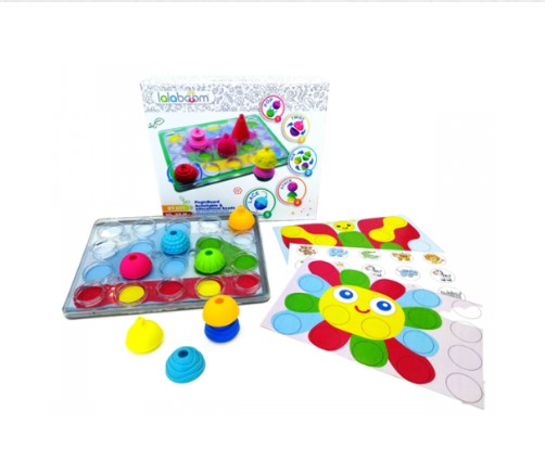 Lalaboom Peg Board with Beads 20 Pcs