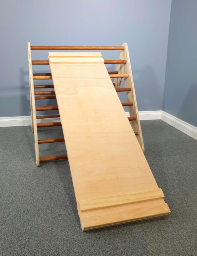 Large Pikler Triangle and Climbing Ramp Package