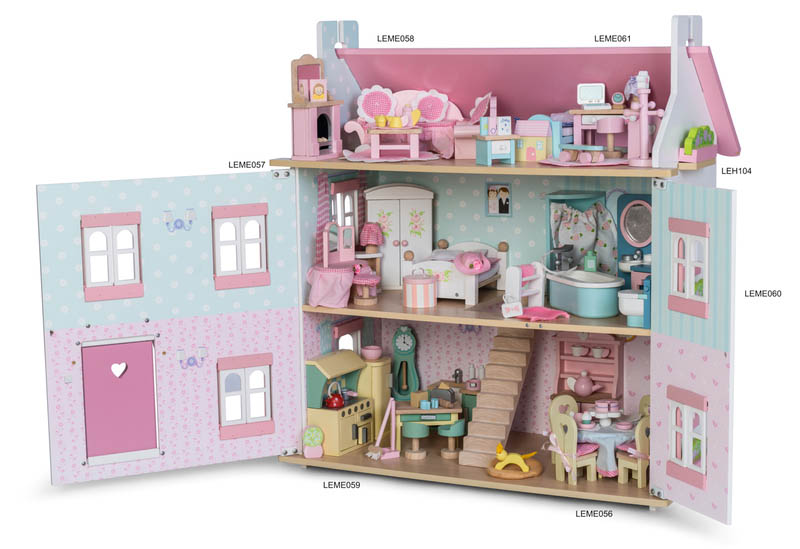 Le Toy Van Daisy Lane range shown in dolls house