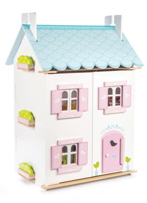 Le Toy Van Daisylane Blue Bird Cottage with Furniture
