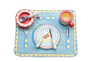 Le Toy Van Honeybake Dinner Set and Placemat