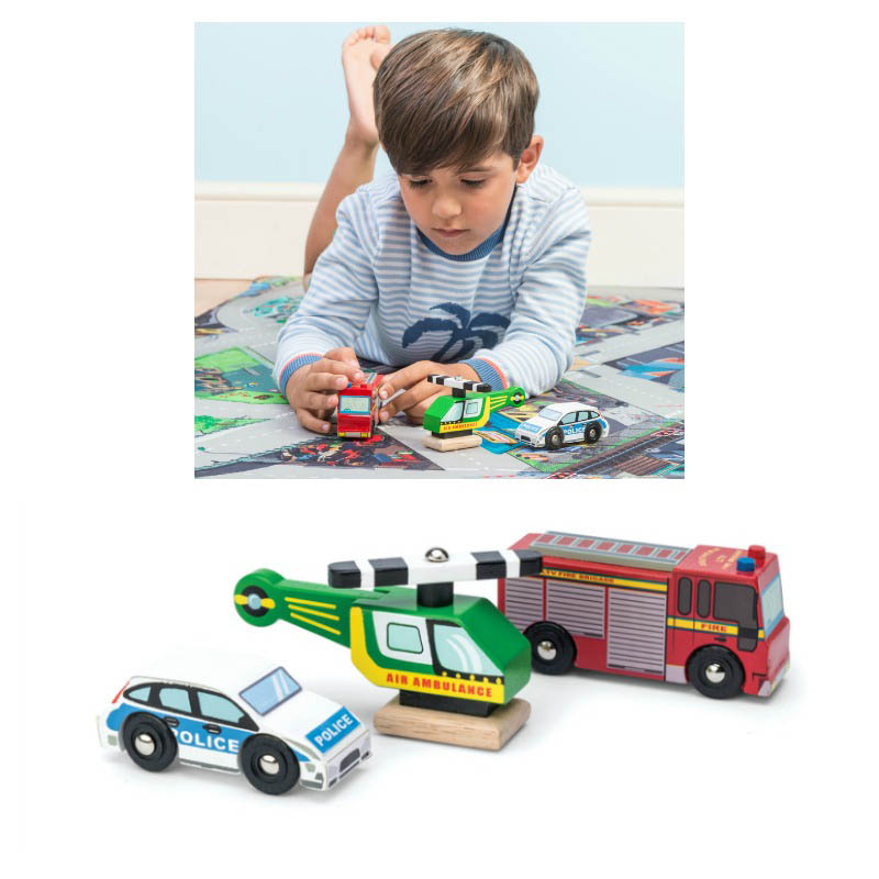 Le Toy Van - Emergency Vehicles - Set of 3