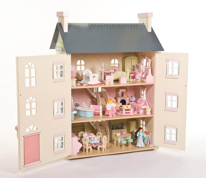 Le Toy Van- Kids Doll Houses-Cherry Tree Hall-dolls and furniture not included