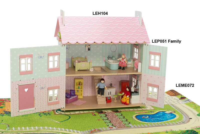 Le Toy Van- Kids Doll Houses- Sophies House - dolls and furniture not included