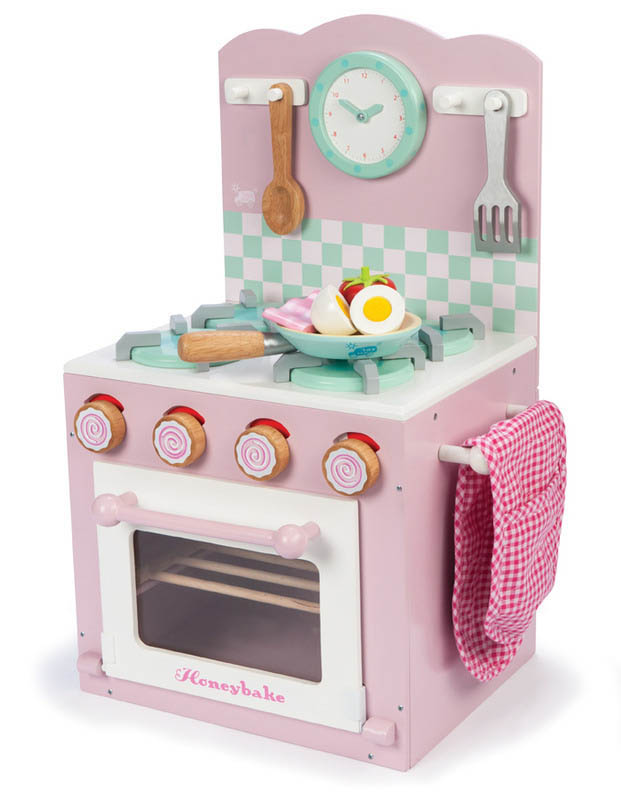 Le Toy Van  Kids Wooden Kitchen Toys  Oven And Hob Set {Pink}